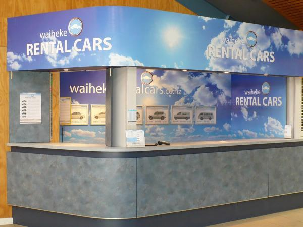 Waiheke Rental Cars booth